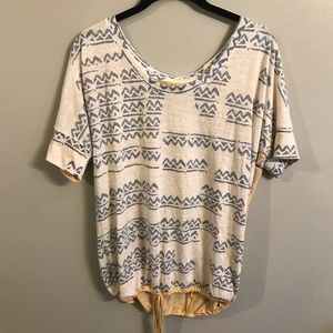 Roxy Aztec Tie Top size medium